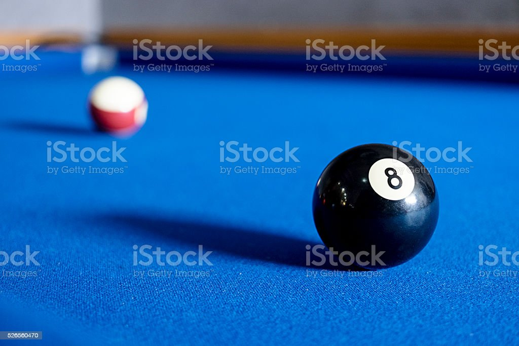 Ball number eight. stock photo