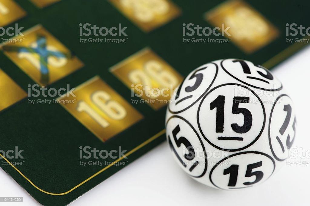 Ball number fifteen stock photo