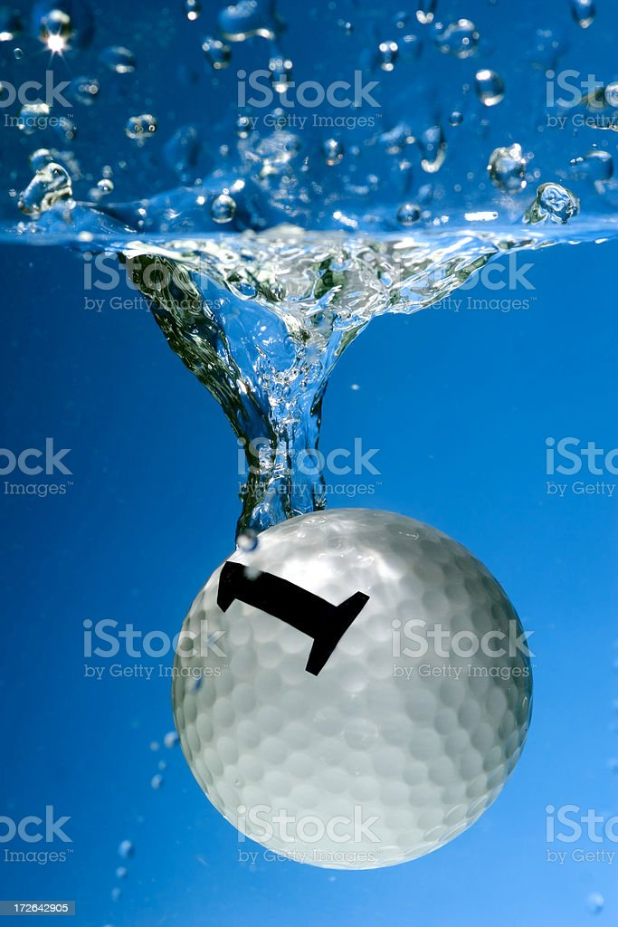 Ball number one stock photo