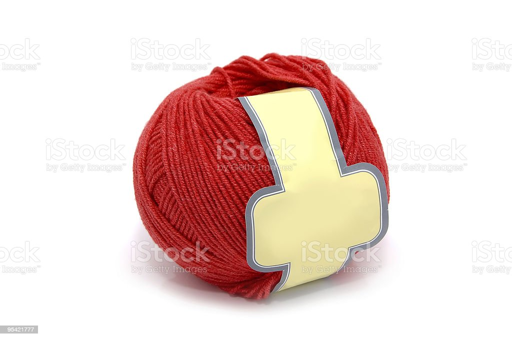 Ball of a red wool royalty-free stock photo