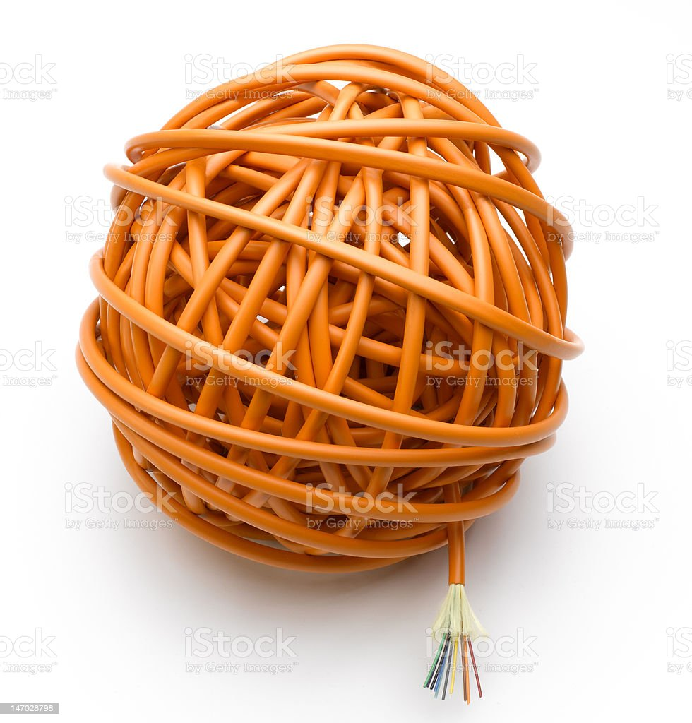 Ball of Cable royalty-free stock photo