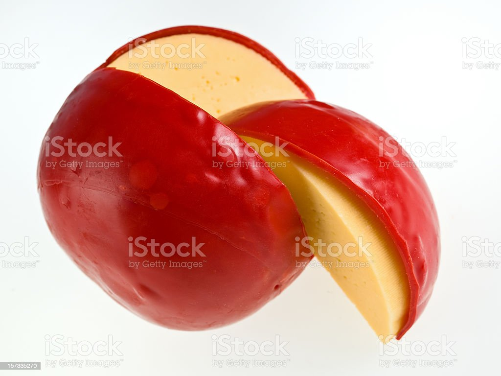 Ball of Edam Cheese stock photo