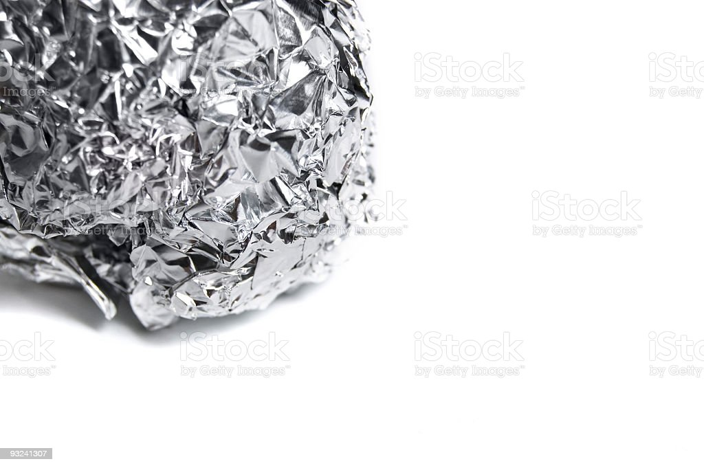 Ball of Foil with Copy-Space stock photo