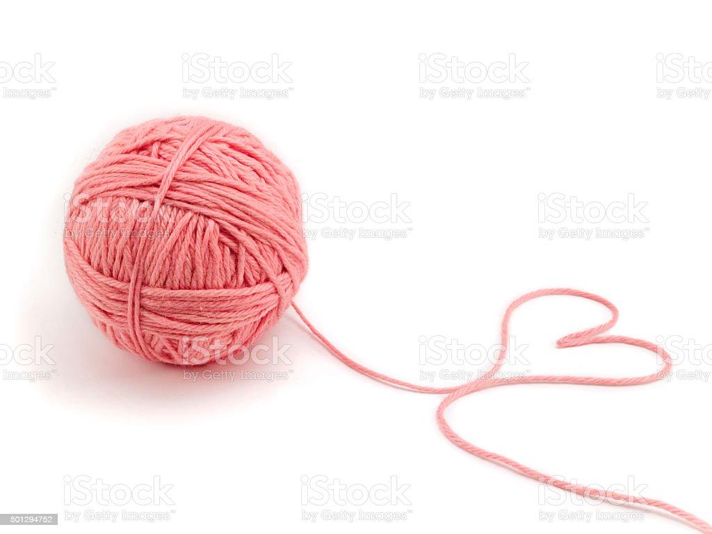 Ball of knitting yarn stock photo