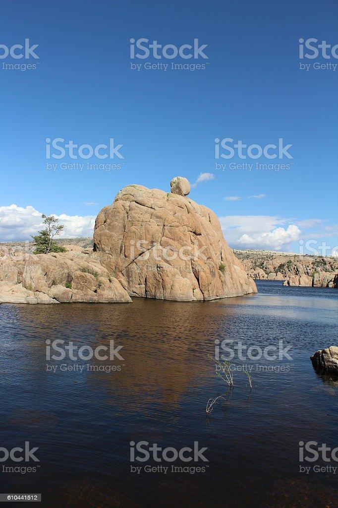 Ball of Rock on Rock stock photo