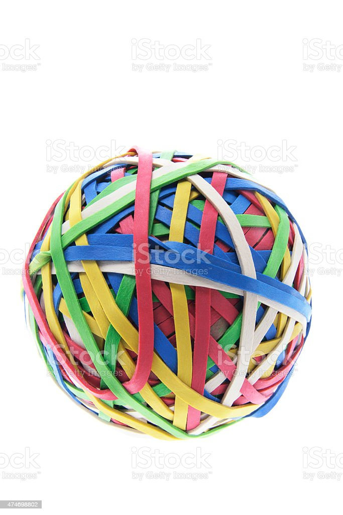 Ball of Rubber Bands stock photo