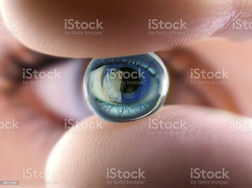 Ball of the eye 2 stock photo