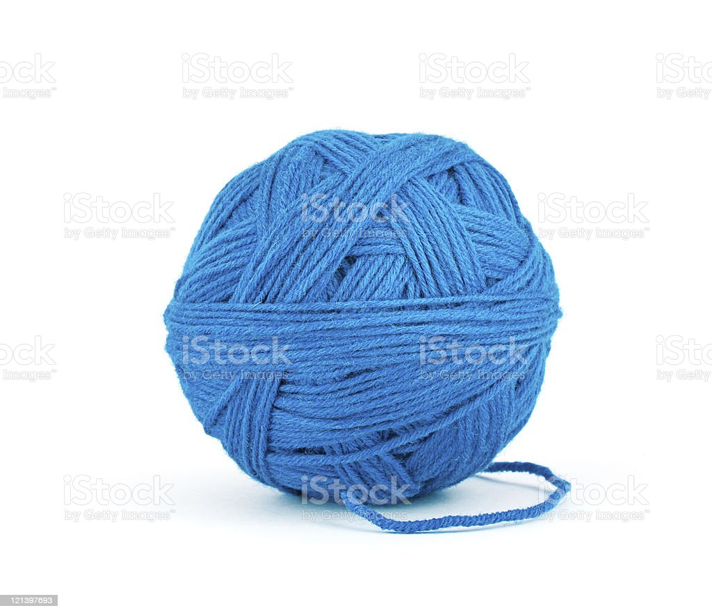 Ball of threads royalty-free stock photo