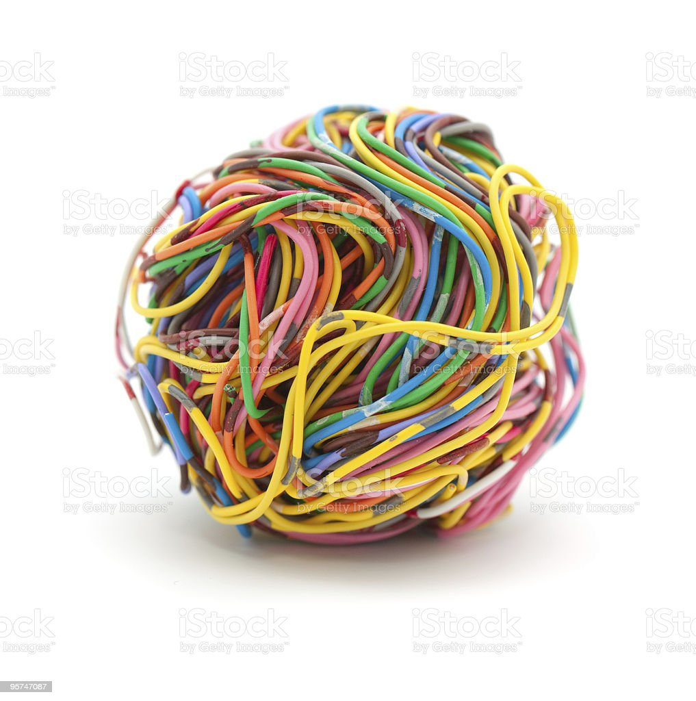 Ball of wire royalty-free stock photo