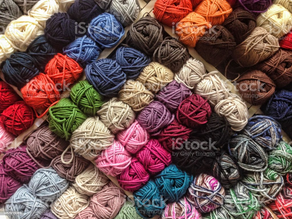 Ball of Wool stock photo