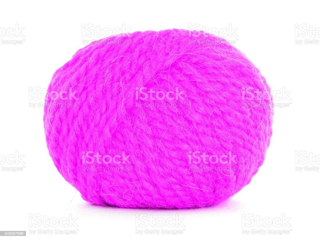 Ball of yarn, tangled twine stock photo