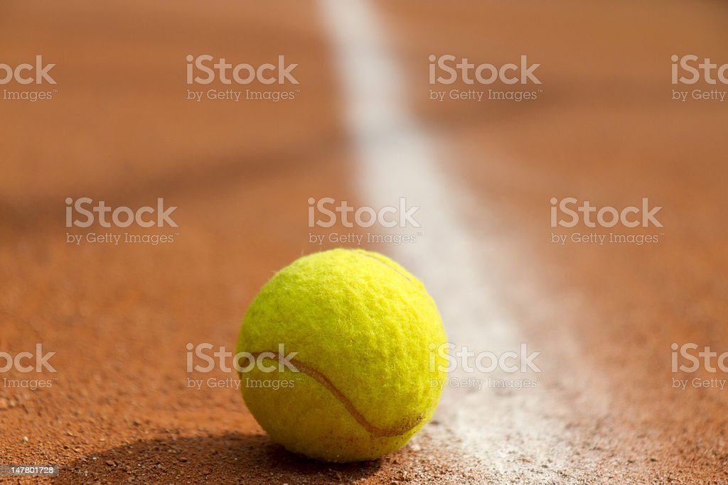 Ball on court royalty-free stock photo