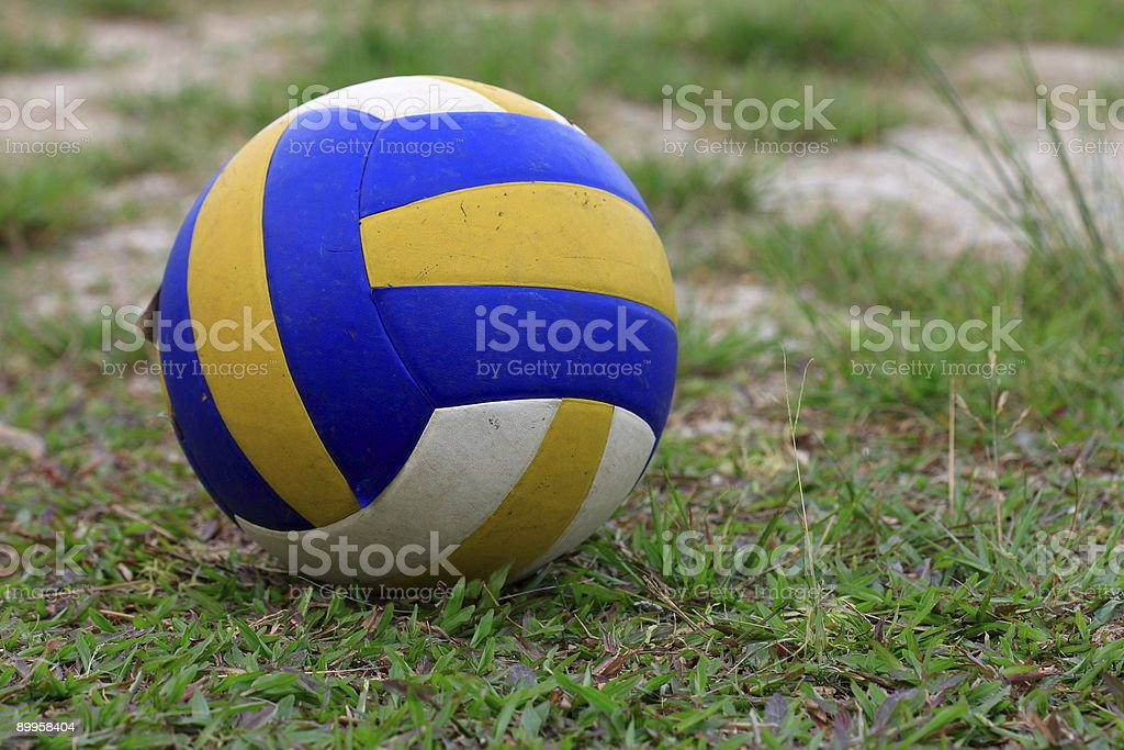 Ball on field royalty-free stock photo
