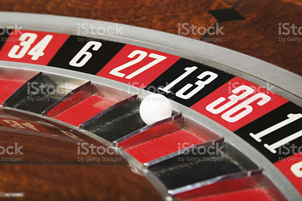 Ball on number thirteen royalty-free stock photo