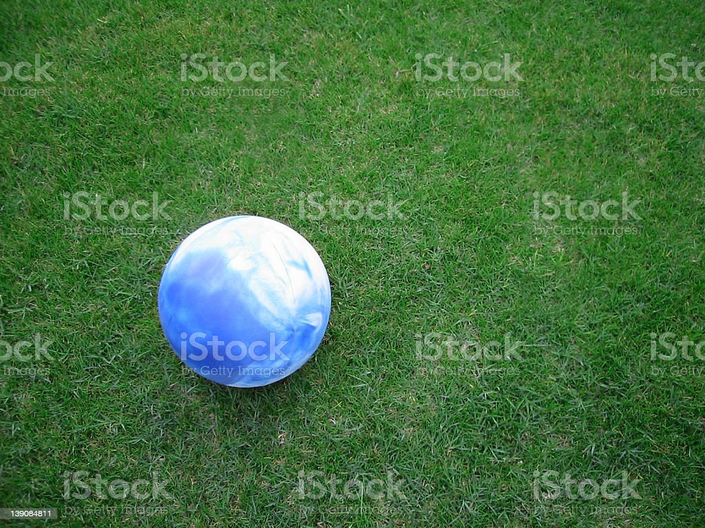 Ball on the grass royalty-free stock photo