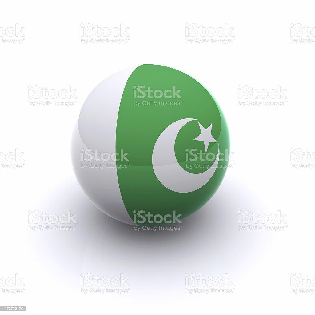 3D Ball - Pakistan Flag stock photo