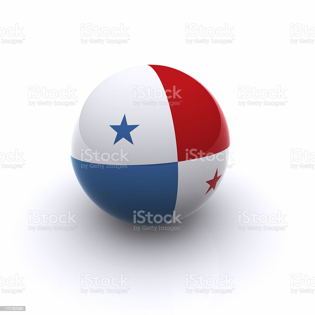 3D Ball - Panama Flag royalty-free stock photo