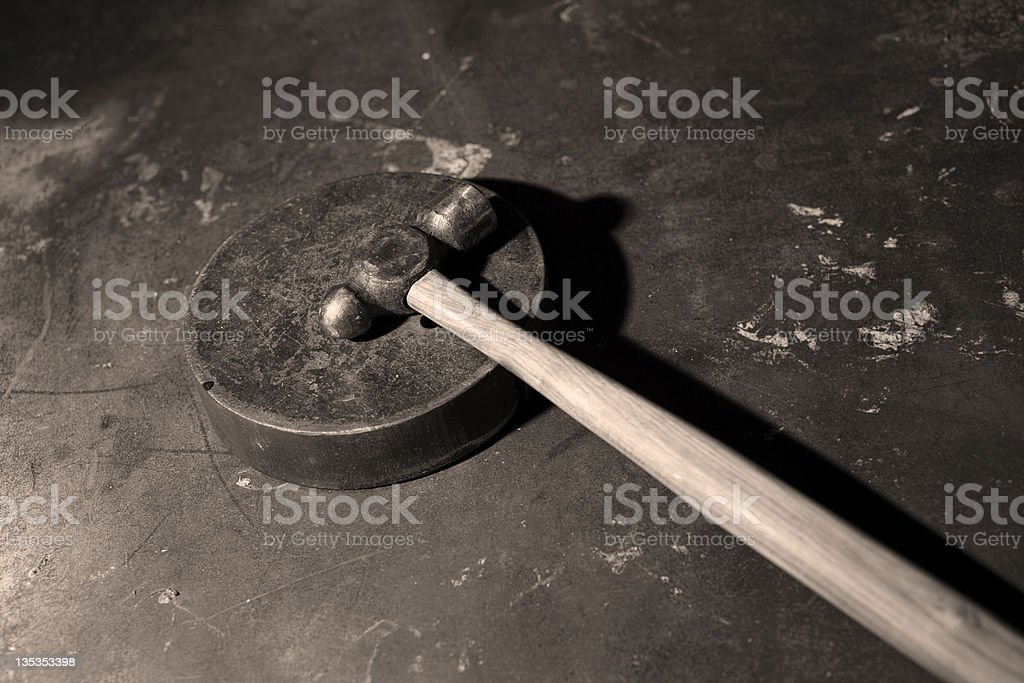 Ball peen hammer stock photo