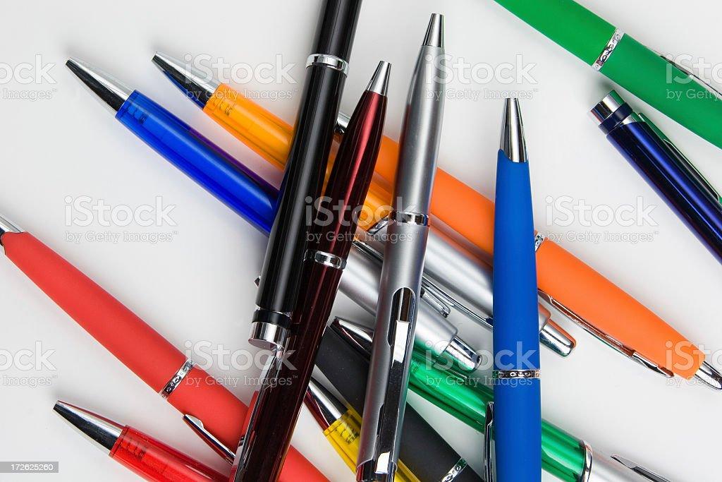 ball pens stock photo