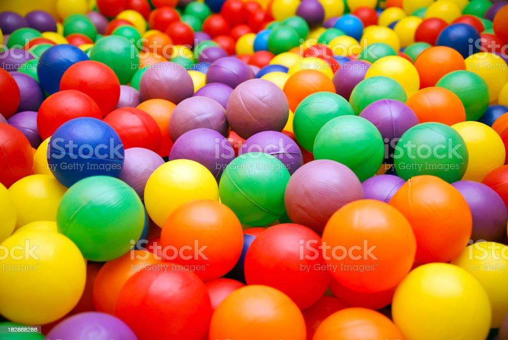Ball pool close-up stock photo