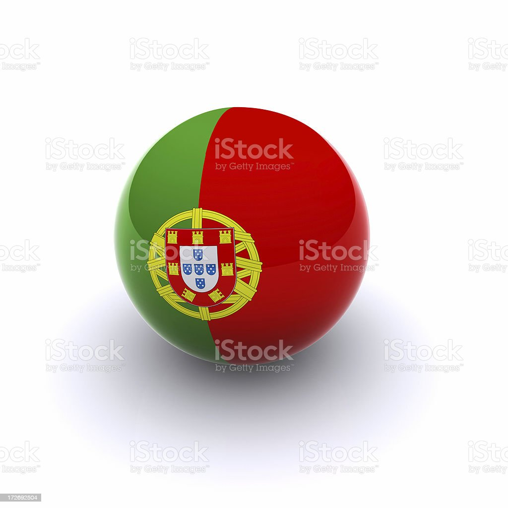 3D Ball - Portugal Flag royalty-free stock photo