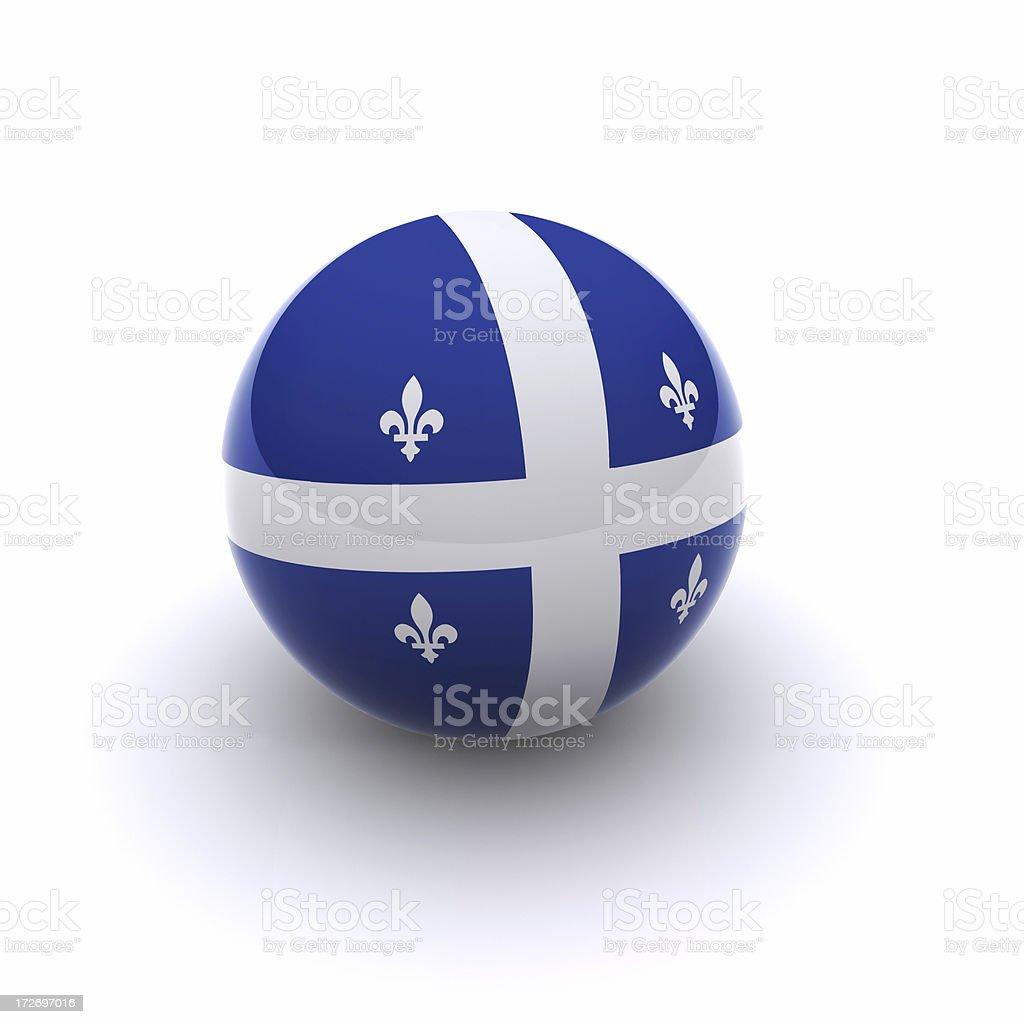 3D Ball - Quebec Flag stock photo