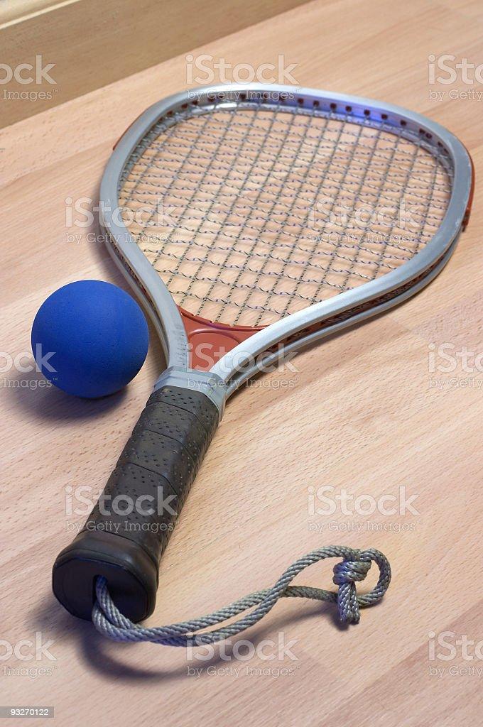 Ball & Racquet #1 royalty-free stock photo
