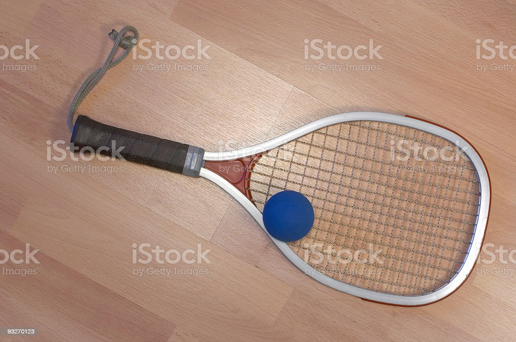 Ball & Racquet #2 royalty-free stock photo