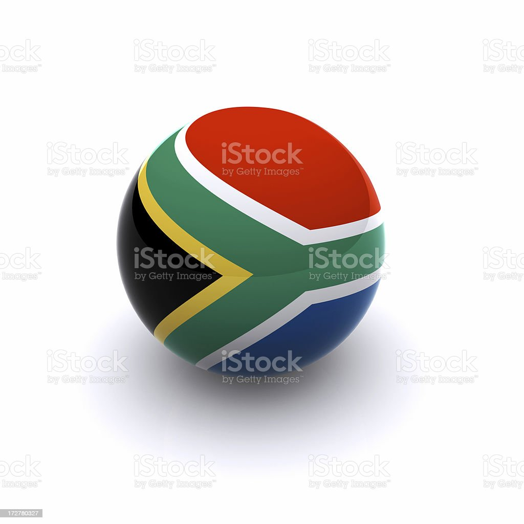 3D Ball - South Africa Flag royalty-free stock photo