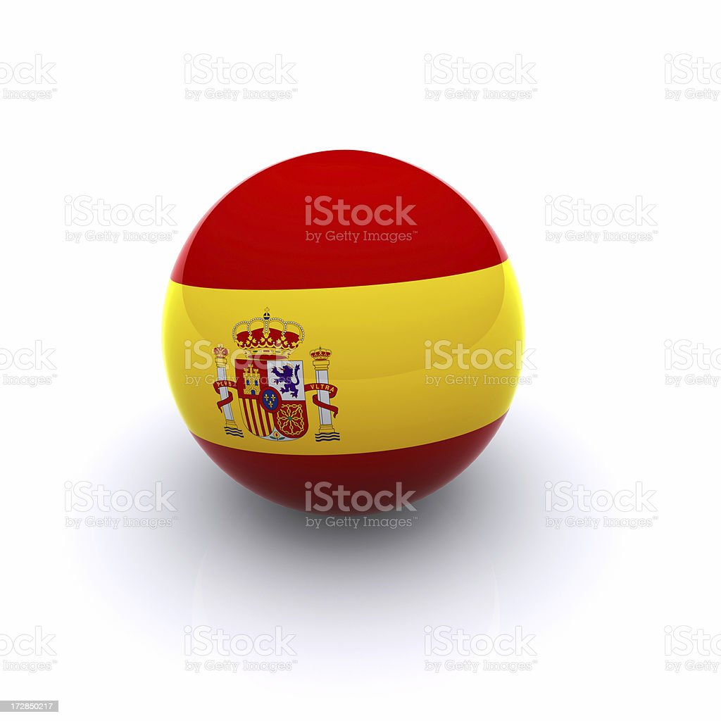 3D Ball - Spain Flag royalty-free stock photo