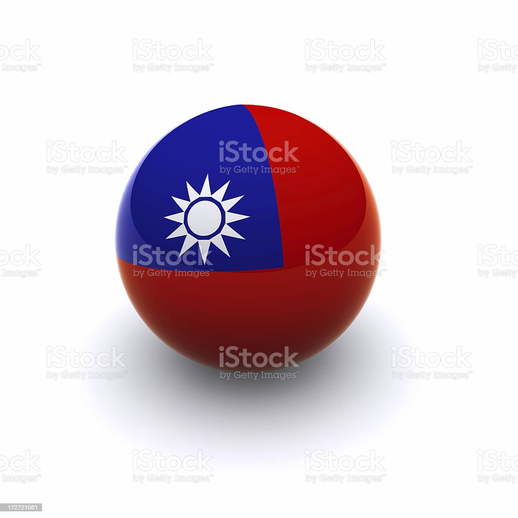 3D Ball - Taiwan Flag royalty-free stock photo
