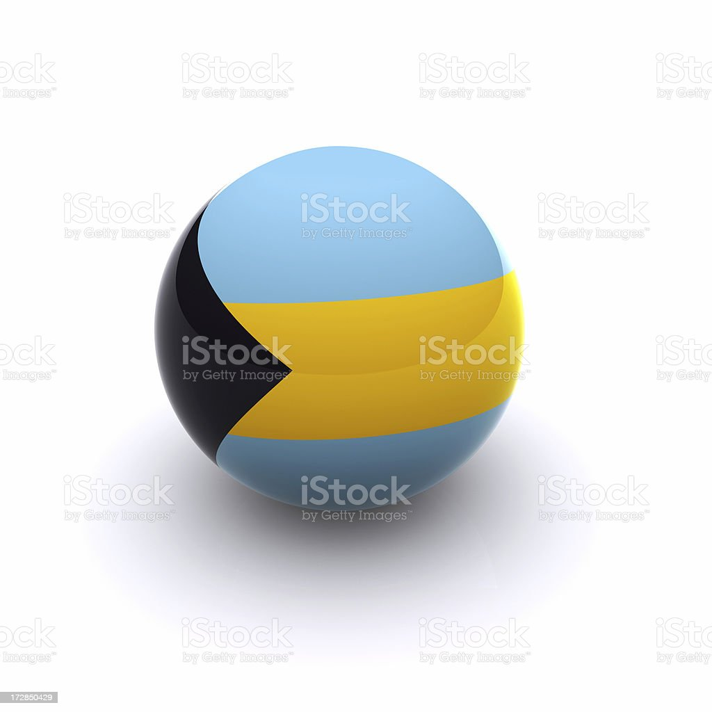 3D Ball - The Bahamas Flag stock photo