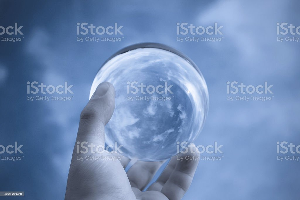 Ball to the sky stock photo