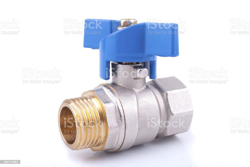 Ball valve stock photo