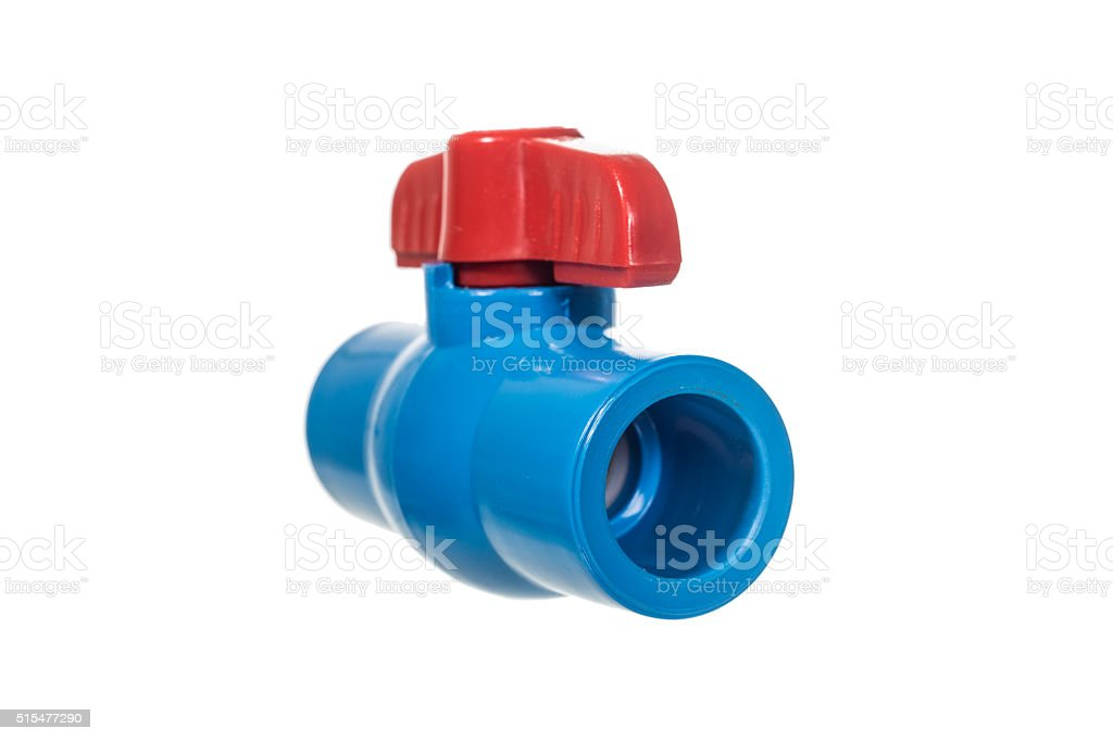 PVC ball valve stock photo