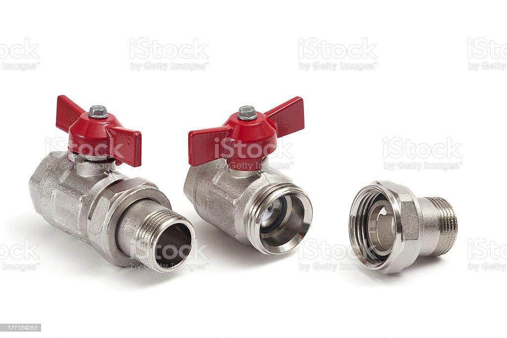 Ball valves stock photo