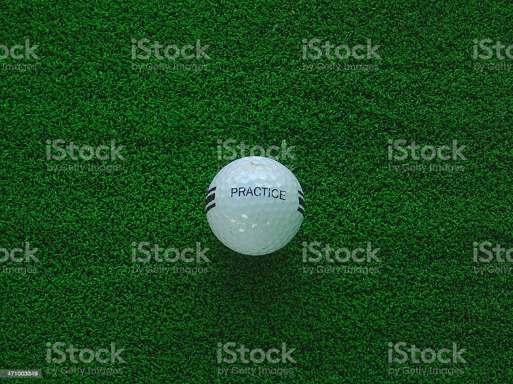 Ball w/ 'practice' inscription royalty-free stock photo