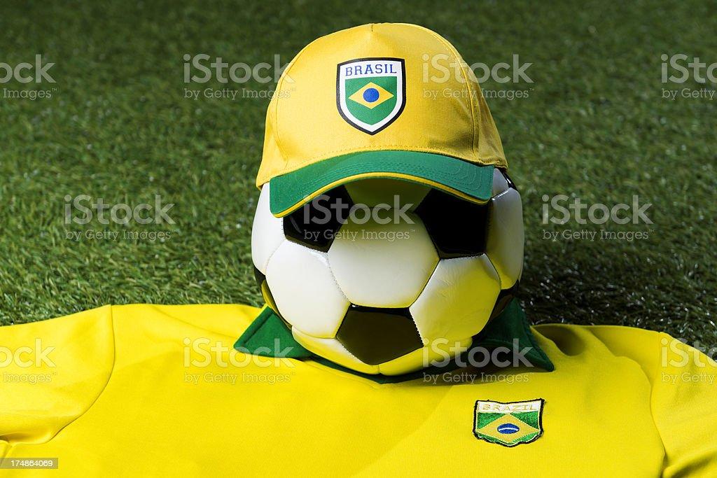 Ball with brazilian logo royalty-free stock photo