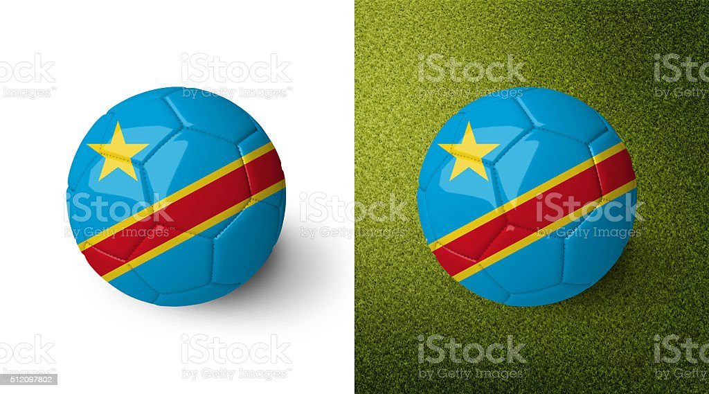 Ball with flag of the Democratic Republic of the Congo. stock photo