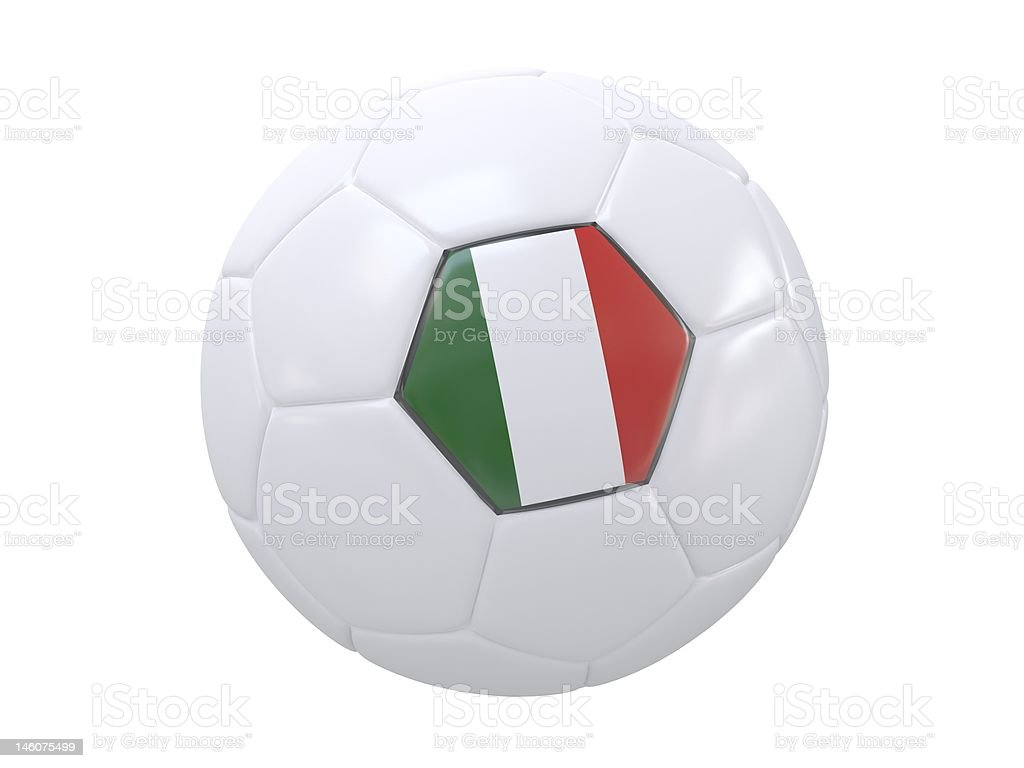 Ball with flag of the Italy royalty-free stock photo