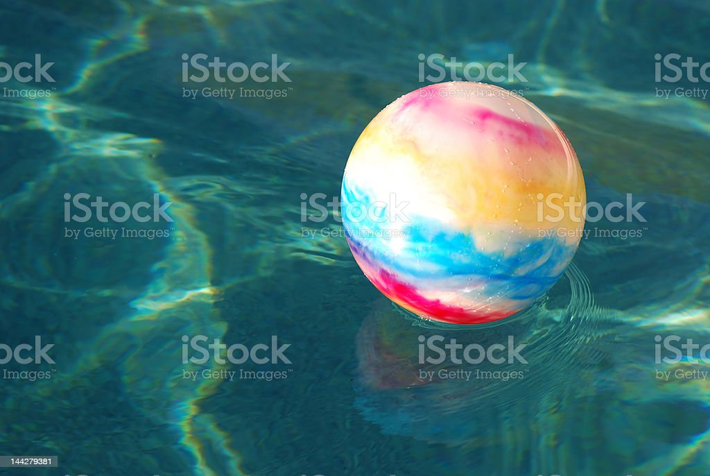 ball_in_water02 royalty-free stock photo