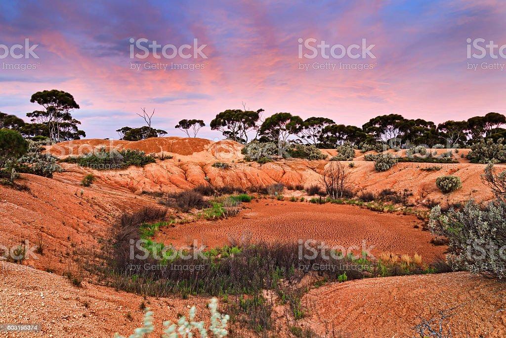 WA Balladonia Dry Pit Set stock photo