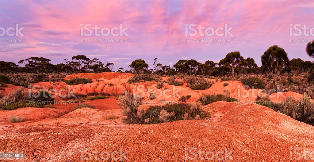 WA Balladonia Red soil hor set stock photo