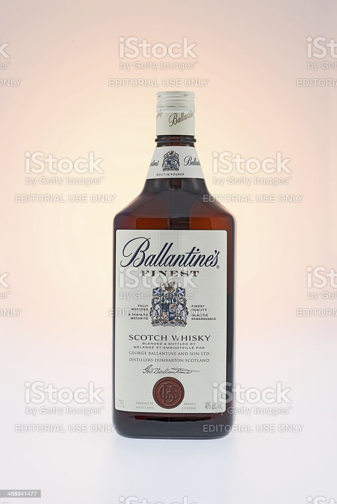 Ballantine's Scoth Whisky Bottle royalty-free stock photo