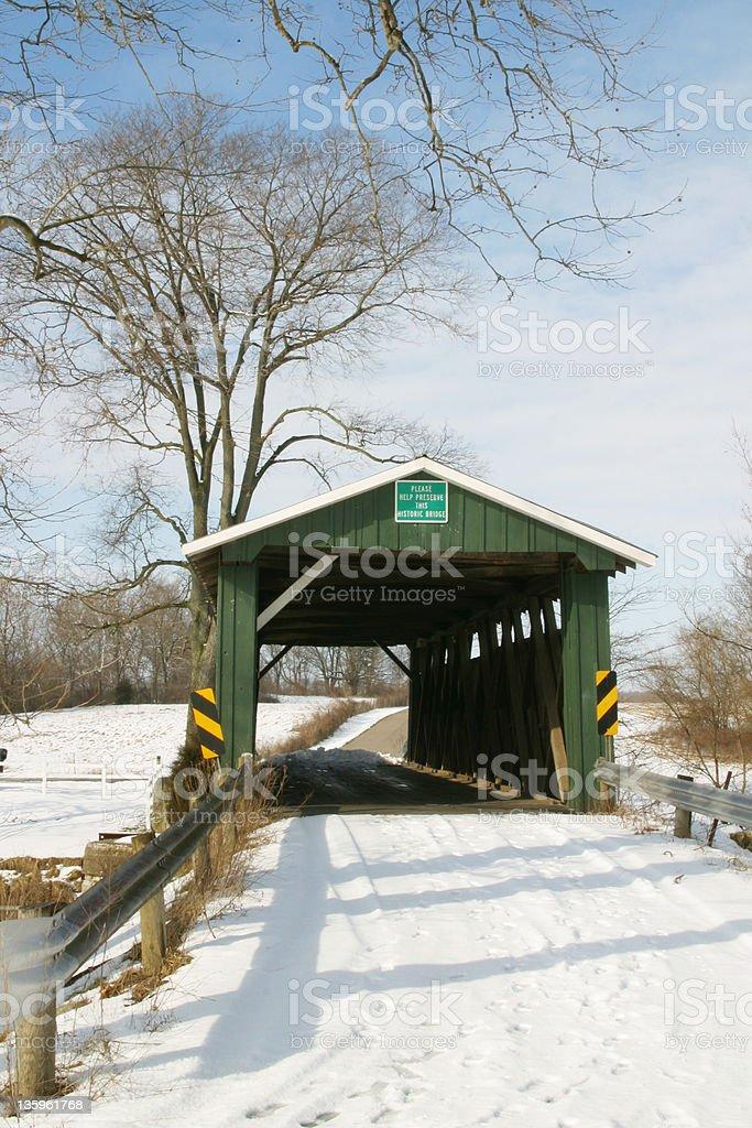 Ballard Road Covered Bridge 5 stock photo