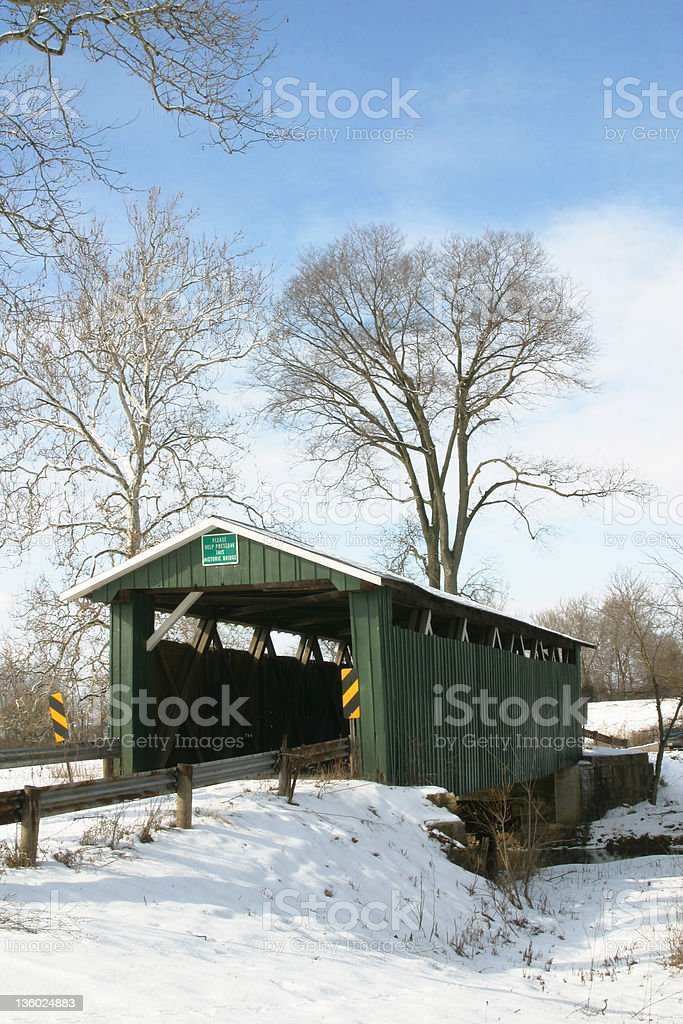 Ballard Road Covered Bridge 6 stock photo