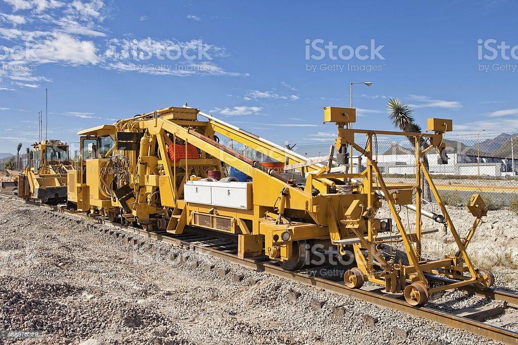 Ballast Tamper Machine stock photo