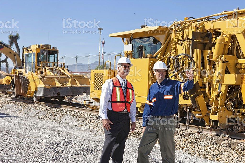 Ballast tamping machine stock photo