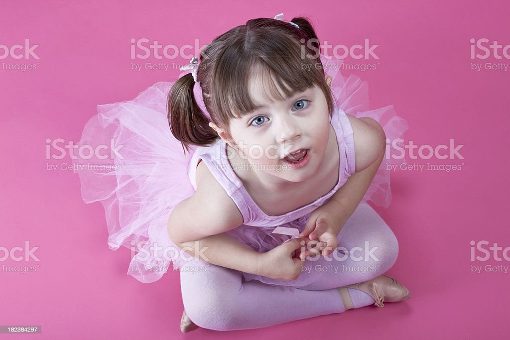 Ballerina all in pink royalty-free stock photo