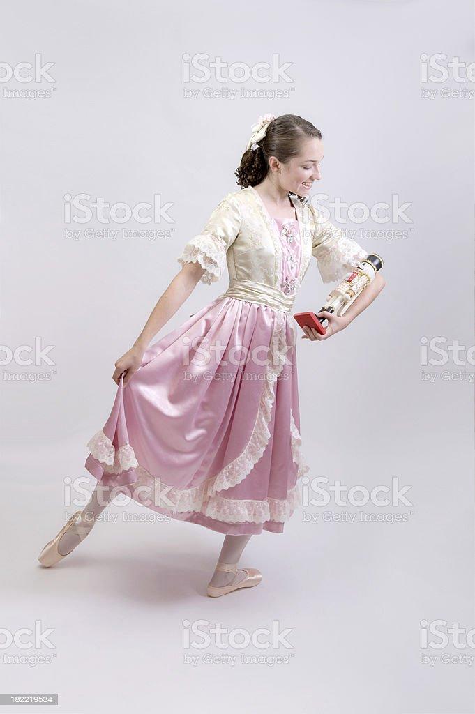 Ballerina and her Special Nutcracker stock photo